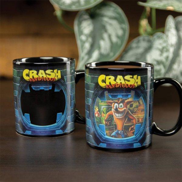 Crash Bandicoot Thermoeffekt Tasse Becher im Geschenkkarton