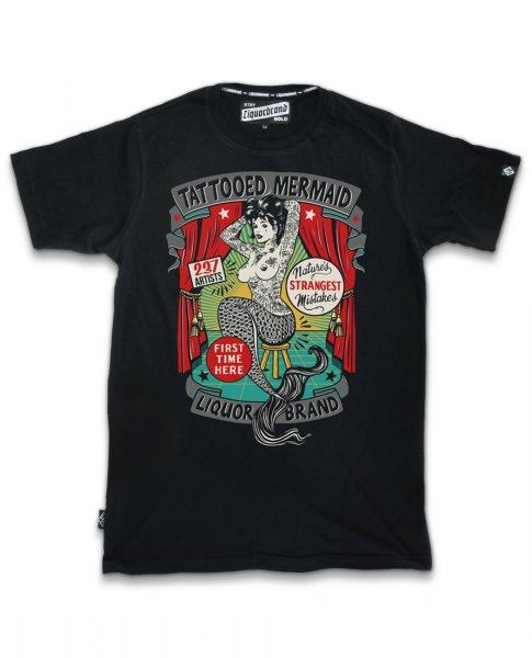 Liquor Brand Tattooed Mermaid Herren Tattoo T-Shirt
