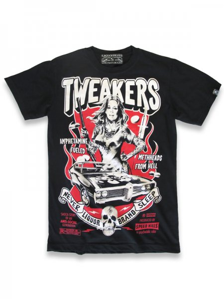 Liquor Brand Tweakers Oldschool Tattoo Herren T-Shirt