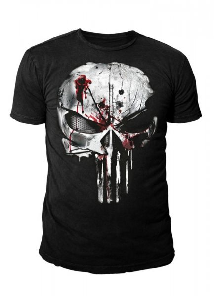 Punisher Bloody Skull Logo Herren T-Shirt