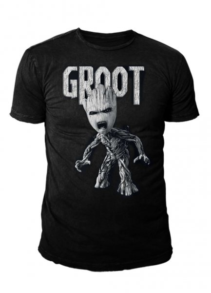 Guardians of the Galaxy 2 Baby Groot Logo Herren T-Shirt
