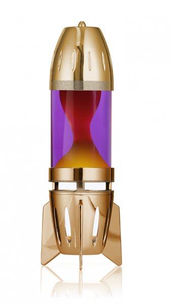 Mathmos Fireflow Lavalampe Kupfer Orange/Violet