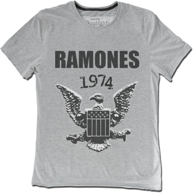 Amplified Ramones Logo 74 T-Shirt