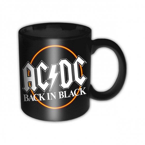 ACDC Back in Black Tasse Becher im Geschenkkarton
