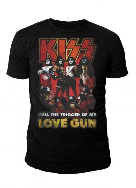Kiss Love Gun Herren T-Shirt