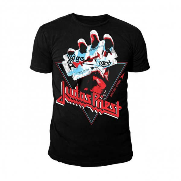 Judas Priest Brittish Steel Logo Herren T-Shirt Schwarz