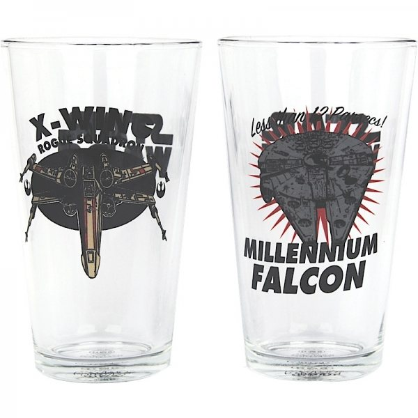 Star Wars - Biergläser 2er Set - Falcon und X-Wing