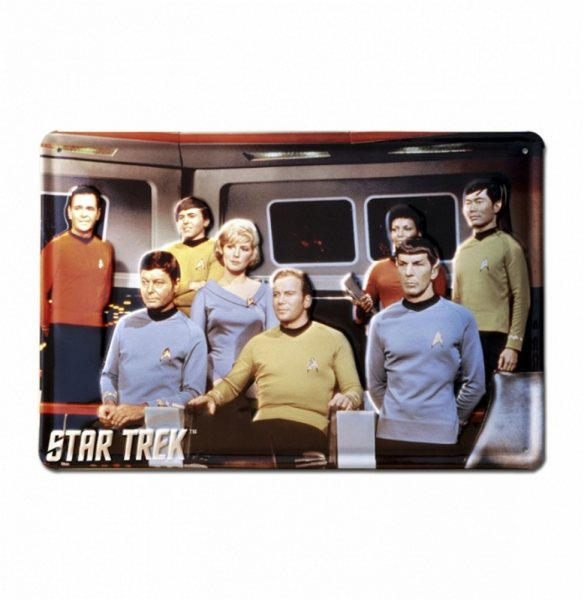 Star Trek - Blechschild - Crew