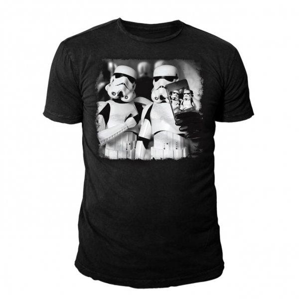 Star Wars Selfie Trooper Herren T-Shirt Schwarz