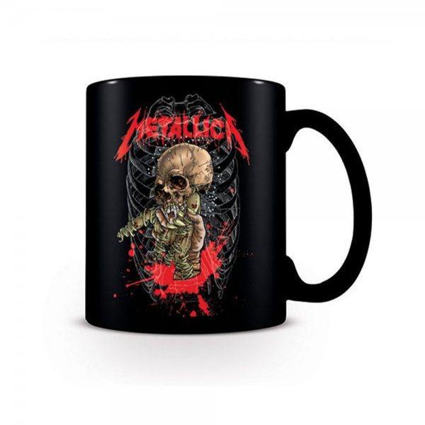 Metallica Skeleton Tasse in Geschenkverpackung Schwarz
