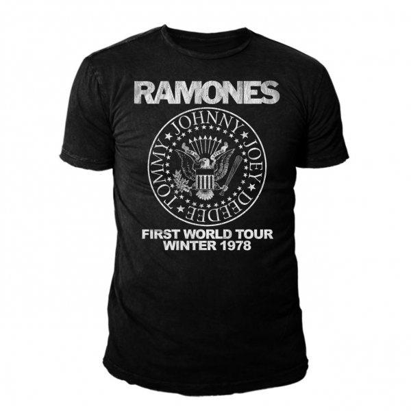 Ramones World Tour Winter 78 T-Shirt Herren Schwarz
