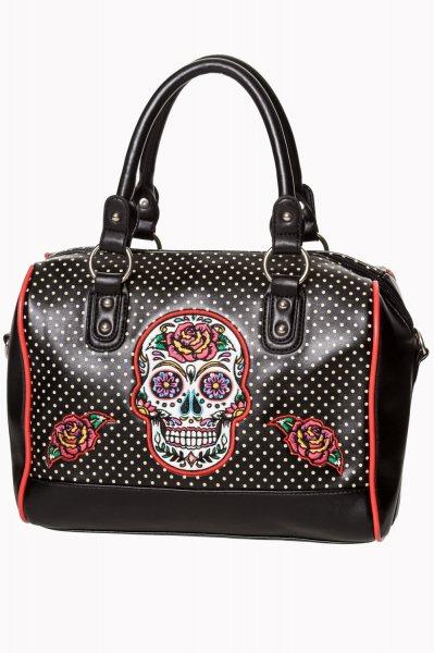 Banned El Dia Del Muertos Skull Damen Bowling Handtasche